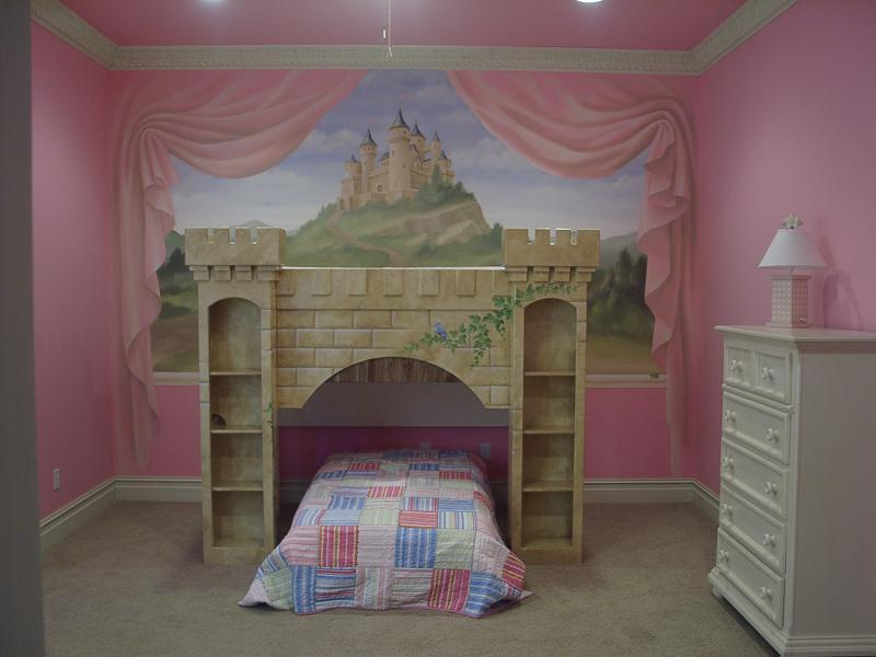 May 2011 laura morgan for Castle mural kids room